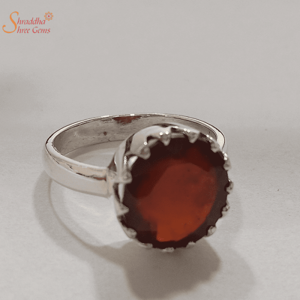 Natural Gomed Ring In Sterling Silver