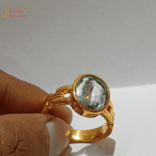 Natural Flourite Gemstone Ring