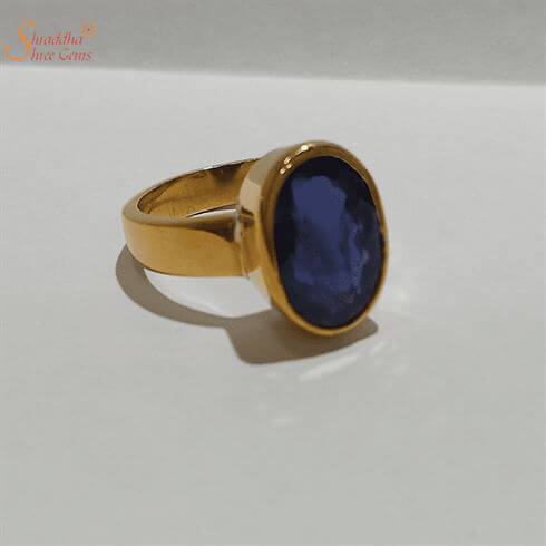 Adjustable Blue Sapphire Ring For Astrology