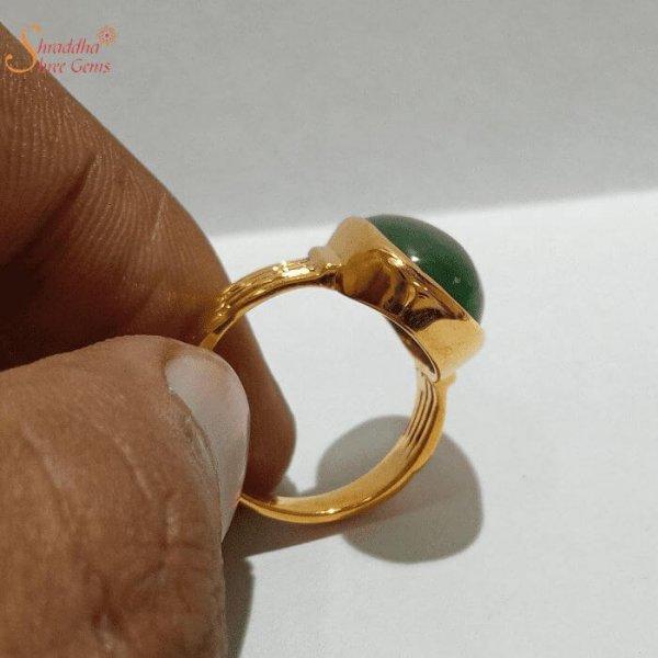 Natural Moldavite Gemstone Ring