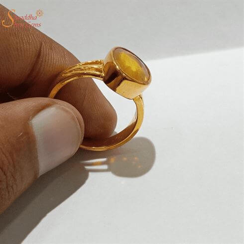 Astrology Yellow Sapphire Ring