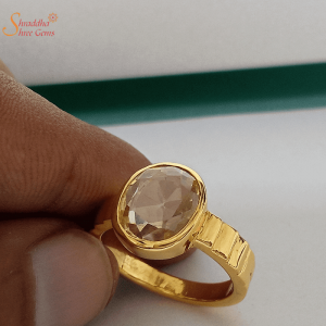 Natural And Certified Citrine Ring