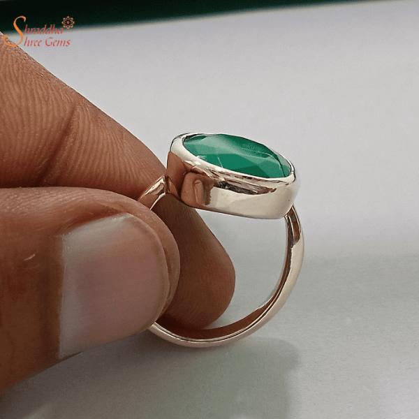 Natural Green Onyx Ring