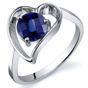 round cut blue sapphire ring